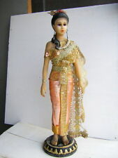 Old Vintage Doll Thailand Dress National Costume Thai Statue