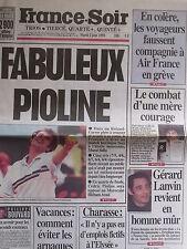 ▬► Journal France Soir 02/06/1998 Gérard Lanvin _Toto_Yannick Noah