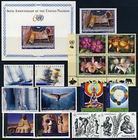 UN - NEW YORK . 2005 Year Set . 15 Stamps + 1 Sheet . Mint Never Hinged