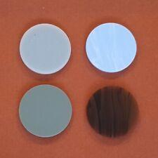 6 Plain Tournament Carrom Carom Board Coins Plastic Striker Flicker Smooth 56mm