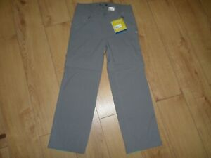 CRAGHOPPERS 2 IN 1 KIWI PRO STRETCH CONVERTABLE PLATINUM TROUSERS SIZE 12 SHORT