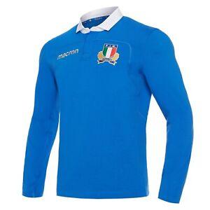 1672/80 MACRON FIR FEDERAZIONE ITALIANA RUGBY ITALIA MAGLIA COTONE HOME 58085015