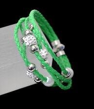 Neu Original Shamballa Lederarmband Armband Leder Shambala Kugeln Zirconia