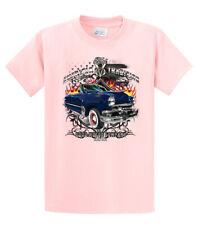 Mens American Tradition Ford V8 Flaming Convertible Car Adult T Shirt USA