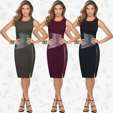 Womens Dresses Casual Bandage Bodycon Evening Party Cocktail Dress Black S LZF04