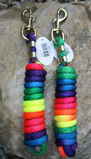 New 10' long Rainbow Patterned Poly Lead Rope. Quality Horse Tack