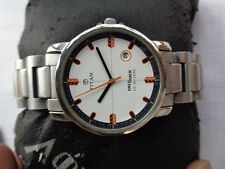 WHITE DIAL TITAN FASTRACK 50M BEAUTIFUL MENS QUARTS WRIST WATCH SOLID SS BAND