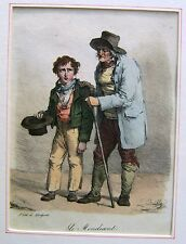FRANCE LITHOGRAPHS GENRE  THE BEGGAR AND SON JULIEN -LEOPOLD  BOILLY 1827