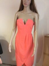 New H&M evening going out dress, orange coral, with corset, size 12, EUR38