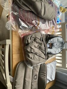 BUGABOO FOX STYLE SET FABRIC SEAT CARRYCOT MINERAL TAUPE BRAND NEW