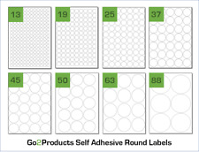 More details for round labels on a4 sheets. circle labels stickers for a4 laser & inkjet printers