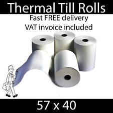 More details for thermal till rolls - excellent quality - 57x40 pdq card machine receipt printer