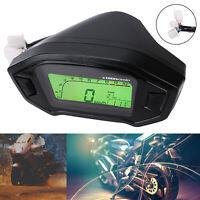 LCD Digital Motorcycle Speedometer Odometer Tachometer Bikes Waterproof MPH KM/H