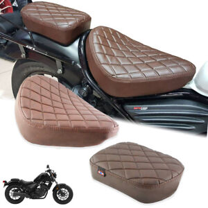 FIT FOR HONDA REBEL CMX 300 500 17-21 BROWN DOUBLE SEAT PAD CUSHION SADDLE SOFT