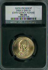 2008-D JOHN QUINCY ADAMS PRES. DOLLAR NGC MS68 SMS RETRO HOLDER SPOTLESS