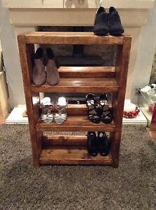 A Hand Made 3 Shelf Shoe Rack Or Book Case