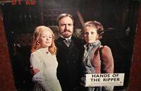 "HANDS OF THE RIPPER (1971) ERIC PORTER ORIGINAL 11"" X 14"" HORROR LOBBY CARD # 1F"