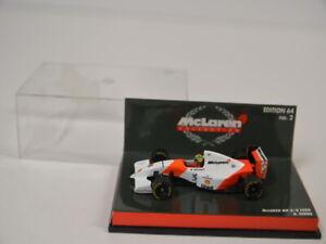 24 ) Minichamps 1:64 McLaren MP 4/8 Ford A. Senna  Formel 1  in BOX