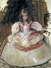 Oil painting a nina Maria Figueroa vestida de menina nice girl in dress canvas