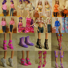 Fashion Party Daily Wear Dress Outfits Clothes Shoes For Barbie Doll Kit Lot US