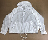 Athleta Women's Size Large White Long Sleeve Expedition Hike Shell Jacket NWT