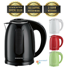 Ovente Electric Hot Water Kettle 1.7 Liter BPA-Free 1100 Watts Auto Shutoff KD64