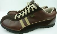 Skechers Women 10 Brown Leather Suede Lace Up Walking Casual Sneakers Shoes