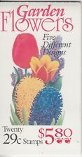 USA 1972 Garden Flowers mint booklet .strip 5 different stamps.