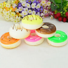 Kawaii Food Squishy Cell Phone Cake Donuts Straps Charms Keyring Cream Scented