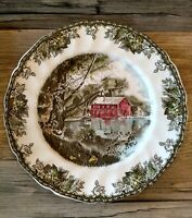 Set Of 4 The Old Mill Johnson Brothers Bros Friendly Village Dinner Plates
