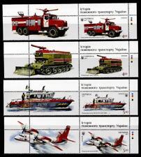 Historische Feuerwehr-Fahrzeuge. 4W+4Zf. Ukraine 2017