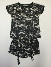 ''POMP DE LUX''  SET TOP SHORTS GIRLS Sz 134-140 blackwhite