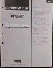 SANSUI A-M7 Amplificateur service repair workshop manual (original)