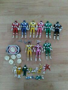 1993 Bandai Mighty Morphin Power Rangers Flip Head Lot w/Accessories Plus extra