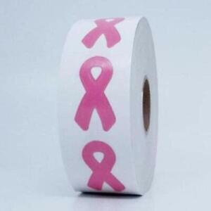 Lot of 1000 Tanning Bed Body Stickers Pink Ribbon Breast Cancer Awareness Roll