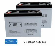 2 Stück 12V 100Ah AGM Gel Batterie Akku Solarbatterie USV Wohnmobil Boot C100
