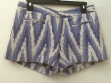 Gap Blue White 100% Cotton Zig Zag Shorts Women's Size Women's Size 4