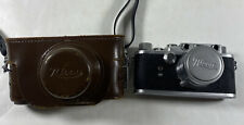 Nicca 3-S 35mm Camera w/ Nikkor 1:2 f=5cm Lens and Leather Case - GREAT SHAPE