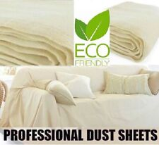 HEAVY DUTY 9FT X 12FT 100%COTTON TWILL PROFESSIONAL DECORATING LARGE DUST SHEET