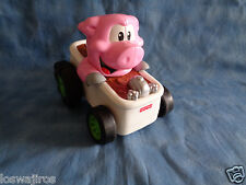 Fisher Price Mattel 2006 Shake N Go Pig in Bathtub Car w/ Sounds 5 1/2""