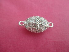 Necklace Clasp Closer Magnetic Very Strong Rhinestones and Sparkle