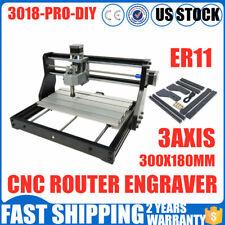Cnc 3018 Pro Grbl 300x180mm 2In1 Laser Engraver Mill Machine 10000Rpm 110-240V