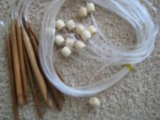 "48"" Afghan Tunisian bamboo circular  crochet hooks w extention 14 sz w/ Jumbo P"
