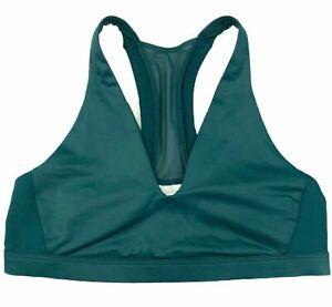 Victoria's Secret Sport VSX Shine Scoop Green Sports Bra w/ Mesh, Size L, NEW!!