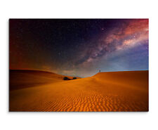 Wandbild Naturfotografie Wüste unter dem Sternenhimmel auf Leinwand