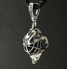 GOALIE MASK team Canada pendant ice hockey sterling silver Exact copy