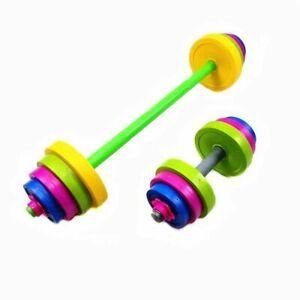 Children Barbell Dumbbell Set Bodybuilding Equipment Muscle Training For Kids
