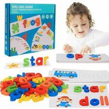 Wooden Developmental Toys Puzzle Preschool Spelling Game Matching Letters Game