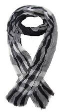 Foulard, chèche écharpe pour homme noir et gris dominant, 180 x 60 cm.