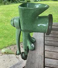 More details for vintage harper 100/9 food mincer grinder chopper cast iron green enamel retro 16